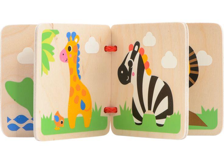 SPIRE Wooden Book - Safari | BR | Leksaker från BR