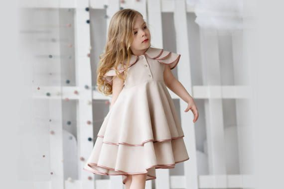 17efcf0e0eb6 Girls linen dress-girls birthdayr dress-Toddler linen dress-Summer ...