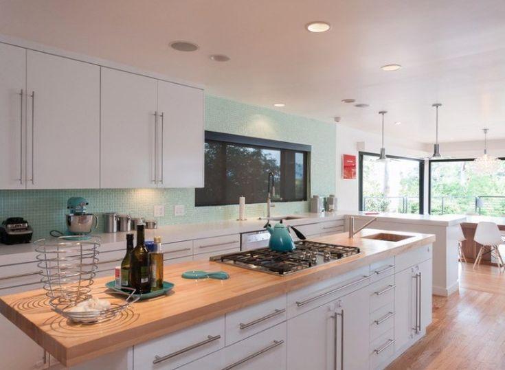 17 Best Kitchen Countertop Ideas Kitchen Island Photos Galleries 17 Best Kitchen Countertop Ideas White Modern Kitchen Modern Kitchen Kitchen Island Tops