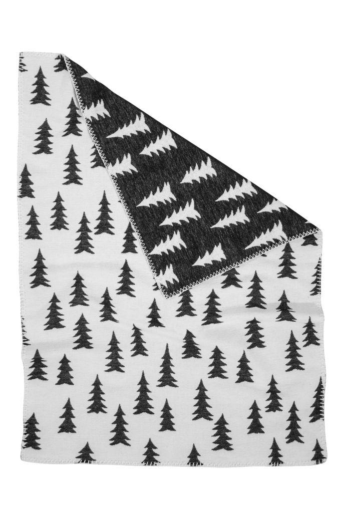 Fine Little Day Gran Woven Baby Blanket - Black & White