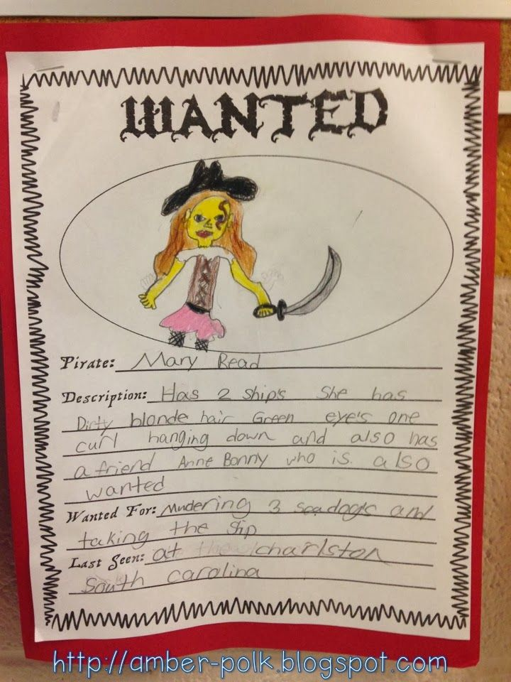 Creating Wanted Posters for Infamous Pirates! (or students ...
