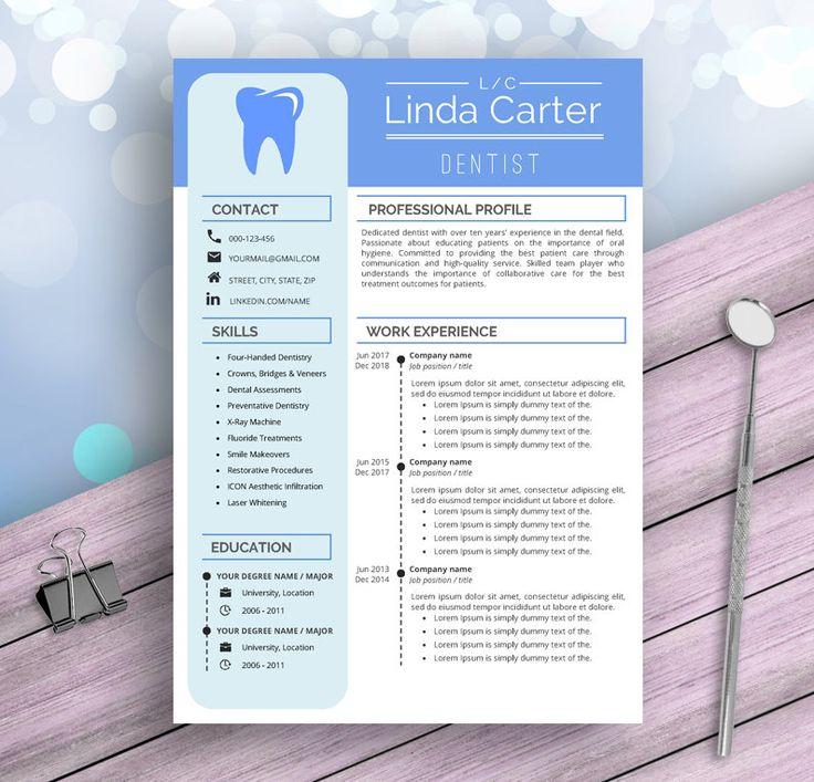 Dental assistant resume template for word dentist dental