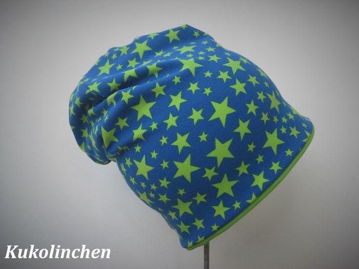 Mützen -  Beanie mit Sternen - ein Designerstück von Kukolinchen bei DaWanda
