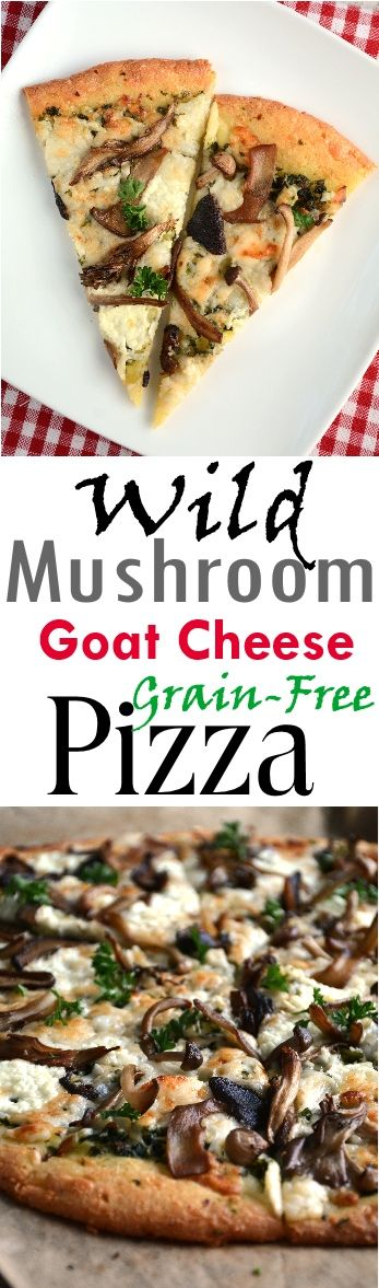 Wild Mushroom Pizza - Grain Free - Low Carb