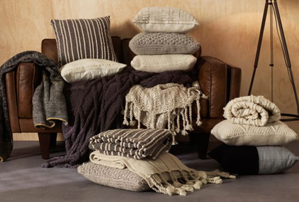 Cosy winter fabrics: Winter Interiors, Australia Winter, Freedom Furniture, Home Interiors, Design Trends, Cushions, Floors Lamps, Cosies Winter, Cable Knits