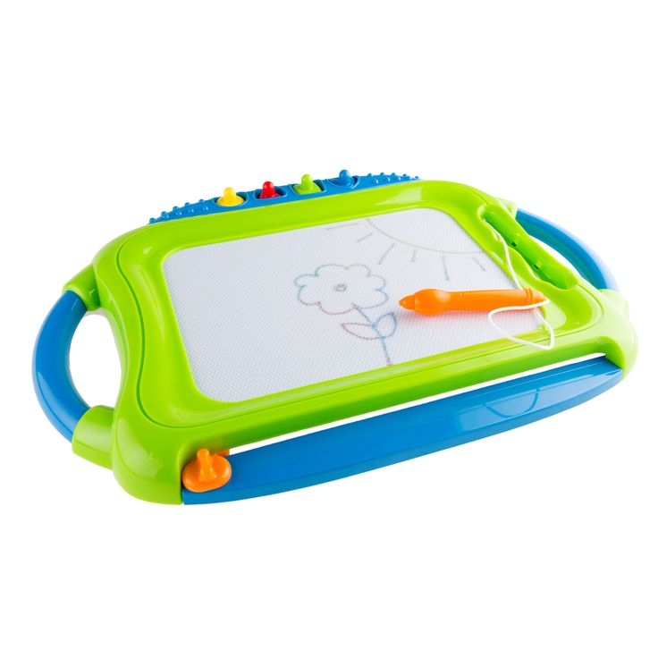 Hey! Play! Hey! Play! Multi-color Magnetic Drawing Board with Pen, Eraser & 4 Stamps