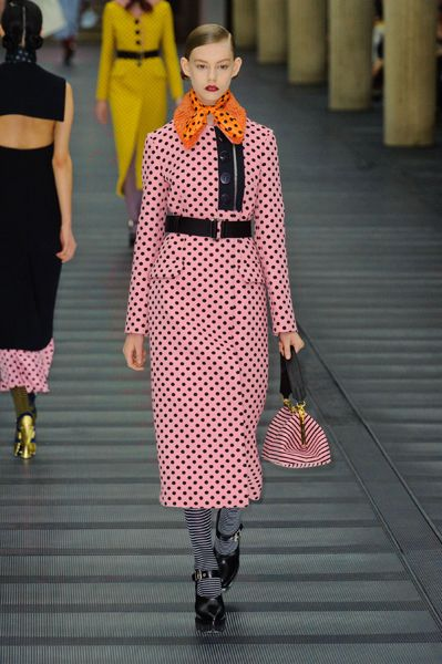 Miu Miu RF13 - spotty pink coat dress