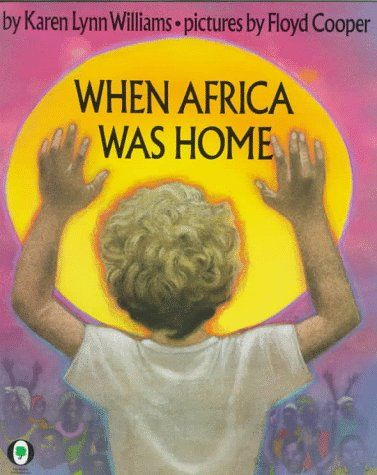 WHEN AFRICA WAS HOME by Karen Lynn Williams: Peter, a blond, American child, loves his life in Africa, cared for by his Mayi (nanny) and playing with his friend, Yekha. When his parents take him back to the U.S. he longs to return to his real home in Africa. Lyrical writing and lovely illustrations make this a true TCK classic. RATING 5/5 [Review by Heidi Tunberg, TCK Care, ReachGlobal]