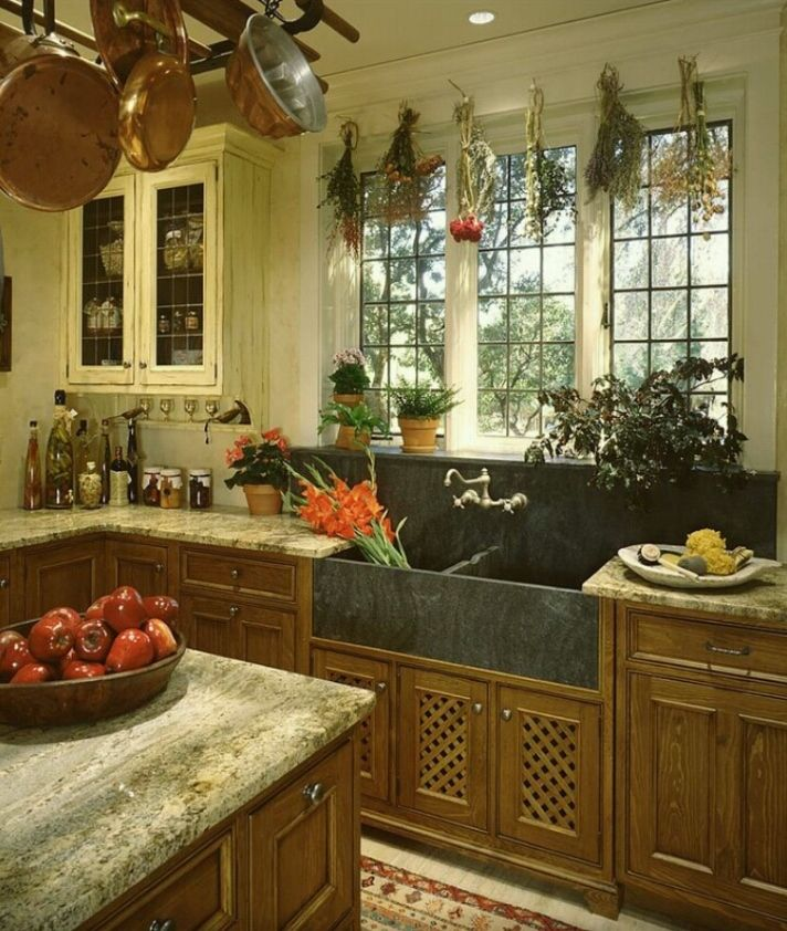 Love This Tudor Style Kitchen Back Splash And Farm Sink