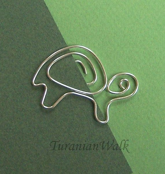 Turtle wire bookmark by TuranianWalk on Etsy, $6.50