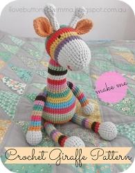 #Crochet toy Giraffe Pattern #craft #fun