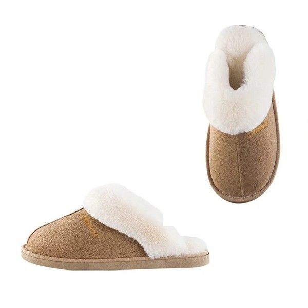cac8105ee136c Womens Slipper Memory Foam Fluffy Slip-On House Suede Fur Lined/Anti ...