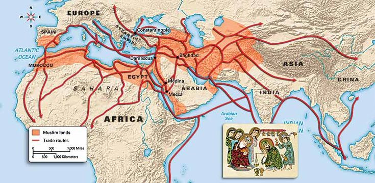 Spread of islam map activity