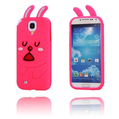 Schattig Konijn (Hot Roze) Samsung Galaxy S4 Hoesje