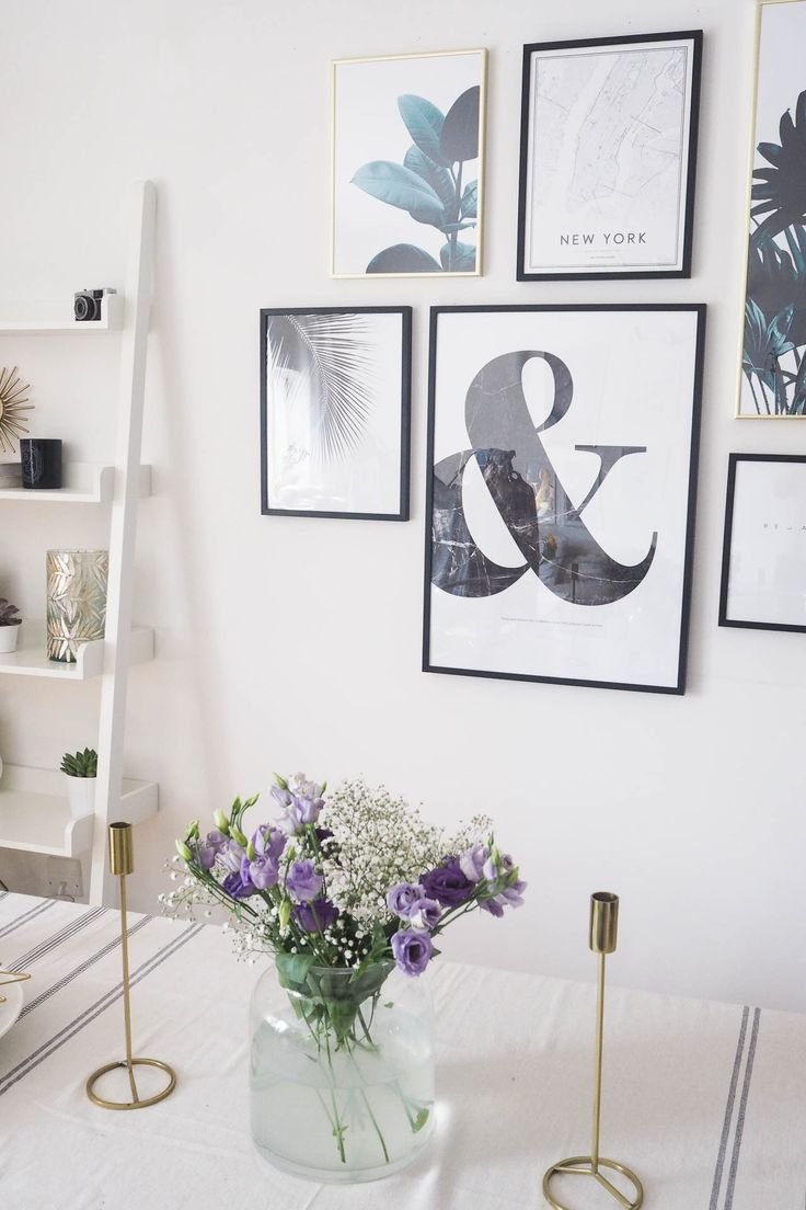Gallery wall styling: how to plan a gallery wall, curate prints, artwork.