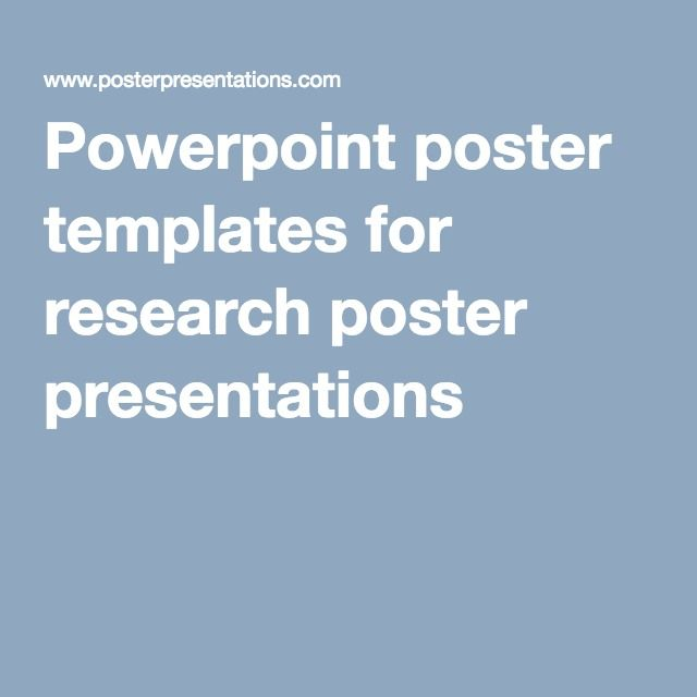 Powerpoint poster templates for research poster presentations