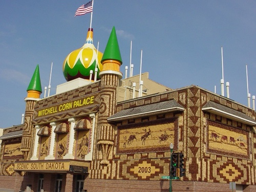 The Corn Palace As Decorated In Mitchell