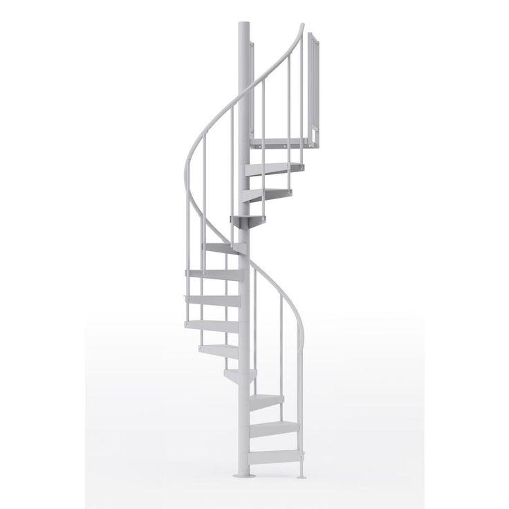 Best Mylen Stairs Condor White 42 In 3 Ft 6 In Wide 12 640 x 480