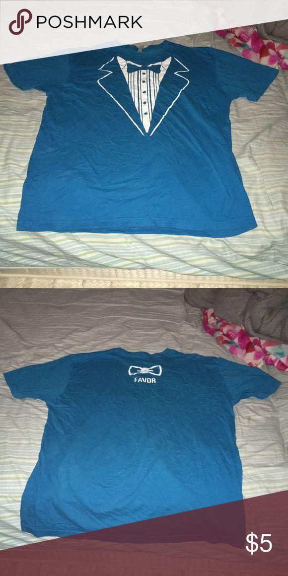 LOWEST PRICE💲Tux shirt Turquoise fake tuxedo shirt Next Level Apparel Shirts Tees - Short Sleeve