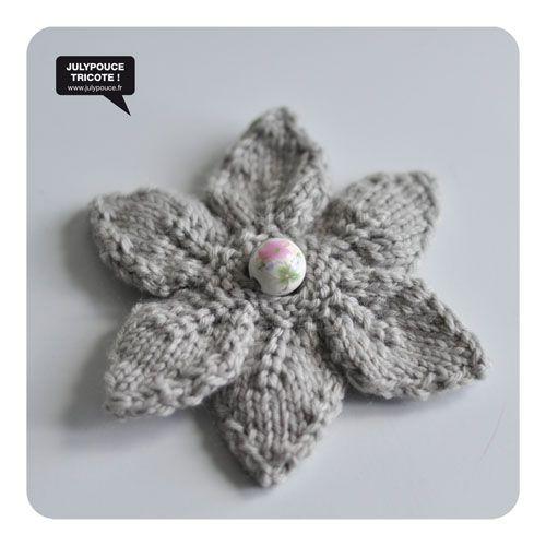 DIY : Broche fleur au tricot | Julypouce tricote