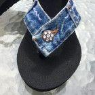 Size 11 ~ Denim Blue Jean Flip Flop Sandal ~ The Lilly