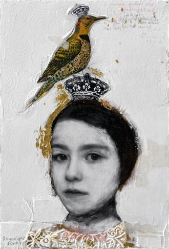 girl with a bird-hat
