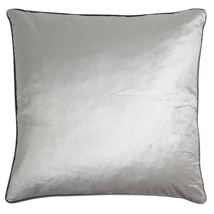 Nigella Marble Square Velvet Cushion at Laura Ashley