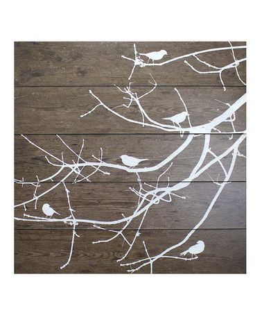 For our bird lover's bedroom. Love this Salema Birds On Branches Wall Art on #zulily! #zulilyfinds