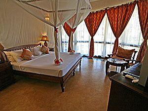 Ocean Paradise Resort: Large rooms with great amenities -- http://adventureswithinreach.com/tanzania/zanzibar/lodging-details.php?name=Ocean-Paradise-Resort