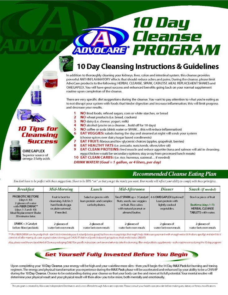 I think it is about that time to cleanse my bod! Nothing better than AdvoCare's 10 day cleanse