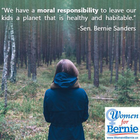 "Senator Bernie Sanders for President!  ""We have a moral responsibility . . . """