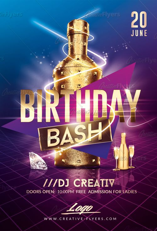 birthday bash flyer psd templates pinterest create flyers psd