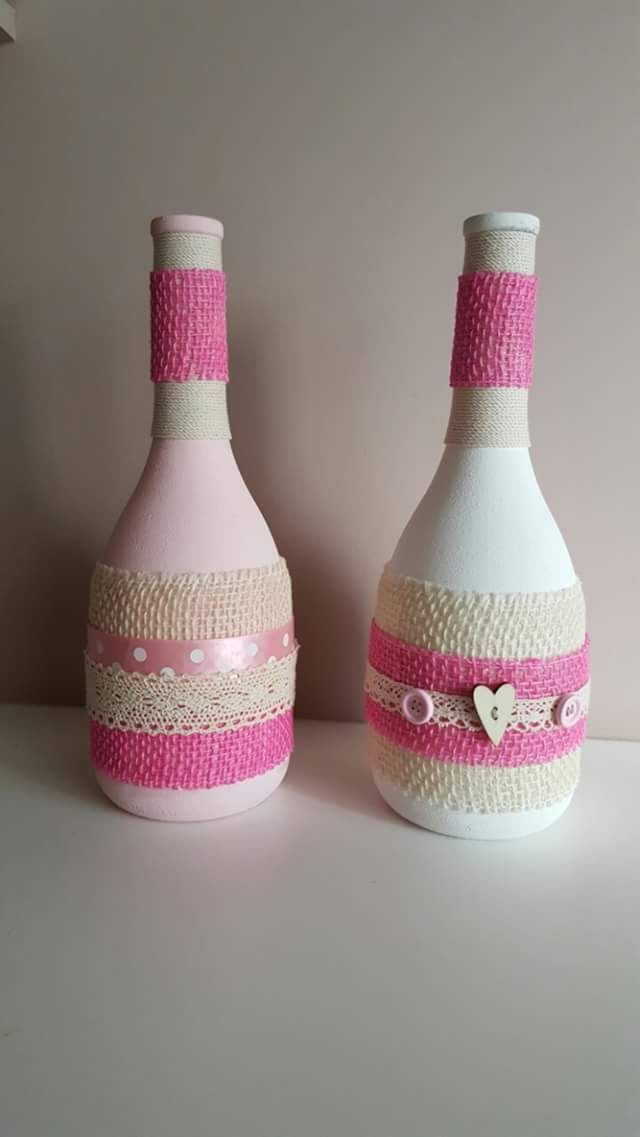 Wine bottles in new clothes