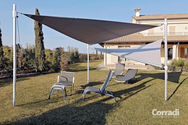Designvolle zonnezeilen, van Italiaanse komaf.