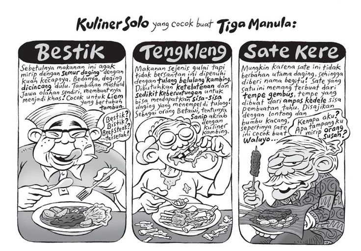 Kartun Benny, Tiga Manula Keliling Jawa: Kuliner Solo