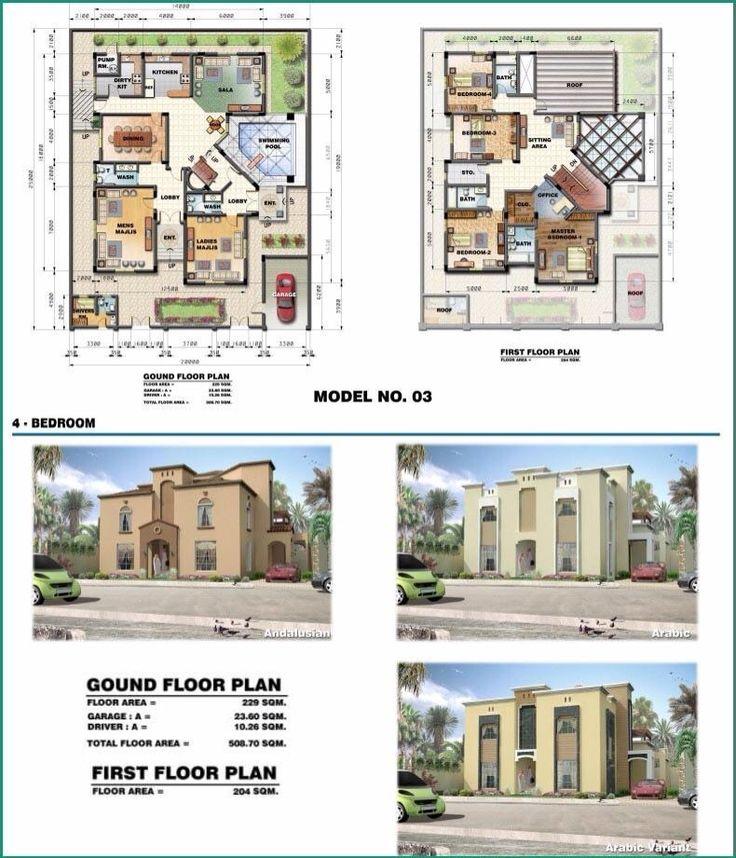 saudi aramco villa plans  3 - architecture