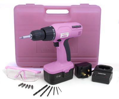 Every woman should have her own Power Tool Set; might as well make it PINK!