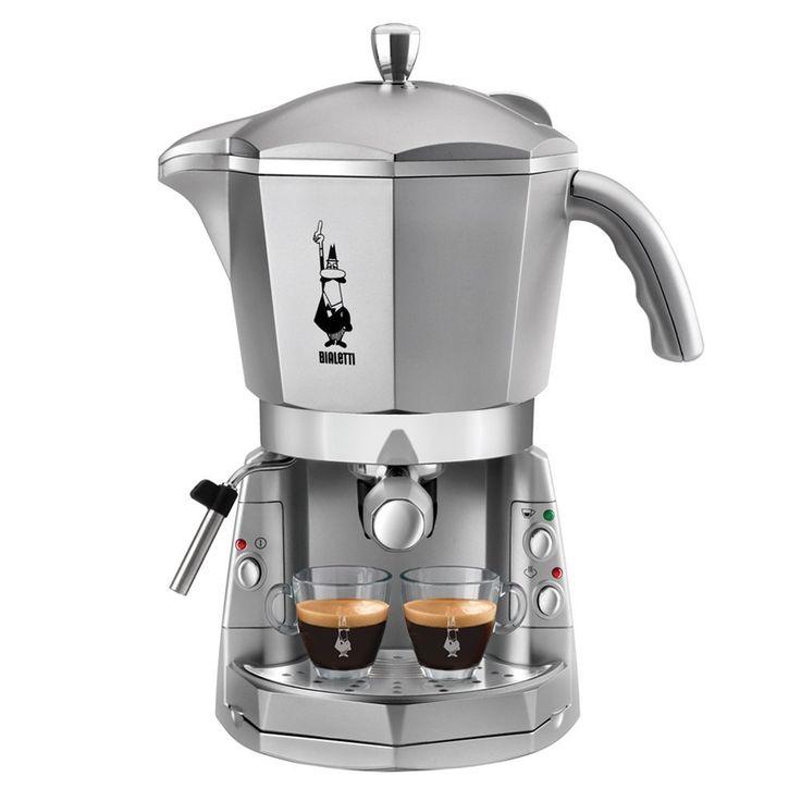 Bialetti Mokona Trio - coffee makers (freestanding, Espresso machine, Coffee capsule, Coffee pod, Ground coffee, Espresso, Coffee, Silver, Buttons): Amazon.co.uk: Kitchen & Home