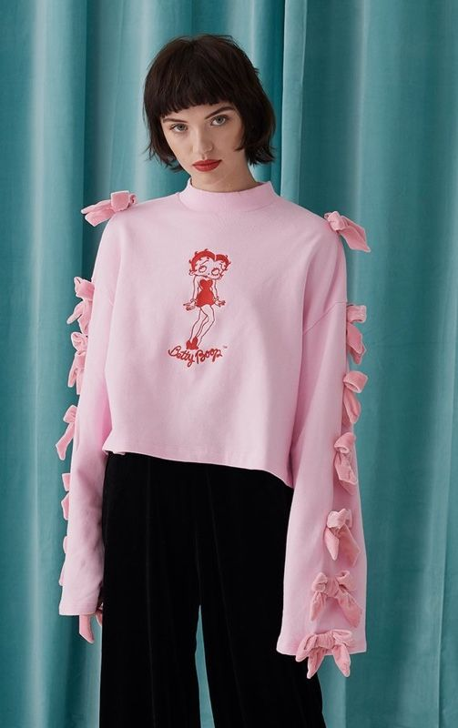 bfc40067 Lazy Oaf x Betty Boop Bow Sweater | T-shirts to Skirts in 2019 ...