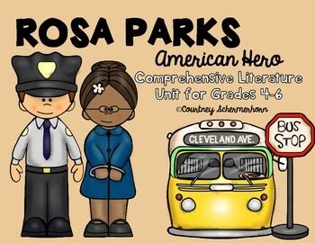 This activity guide is perfect for a literature unit on Rosa Parks!  It covers many reading skills, including materials for interactive notebooks.  Included in the guide:*Booklet with passage on Rosa Parks (4th-5th grade level)*Fact/Opinion cards with instructions and templates to make mini-file folders for cards*Timeline*Who is Rosa Parks? (character traits graphic organizer)*Cause & Effect (events during civil rights movement & Rosa Parks)*Compare/Contrast (Rosa Parks w ME)*Main Id...