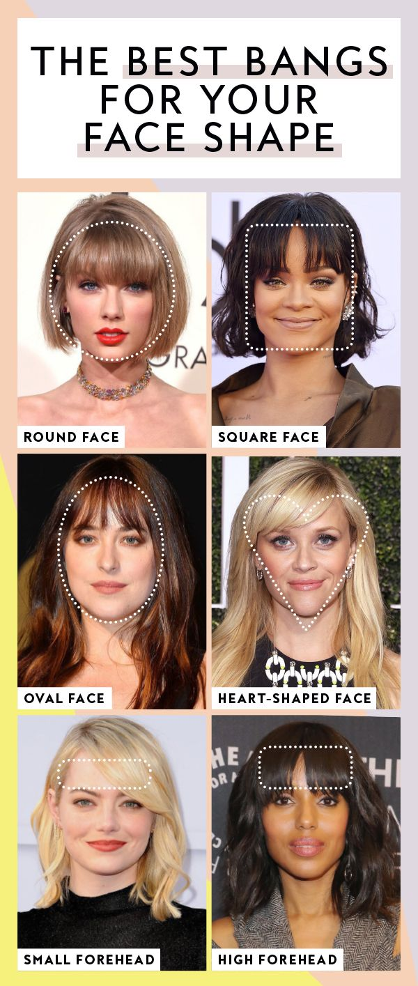 these are the best bangs for every face shape, according to