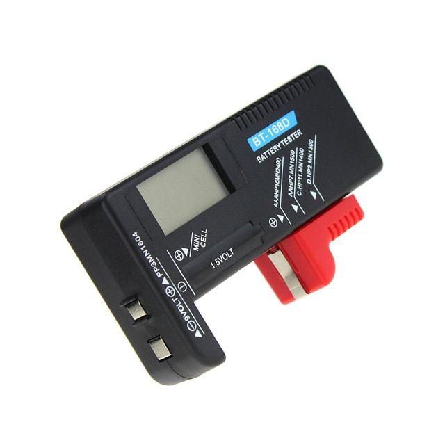 Universal LCD Digital AA//AAA//C//D//9V//1.5V Button Cell Battery Volt Tester BT-168D