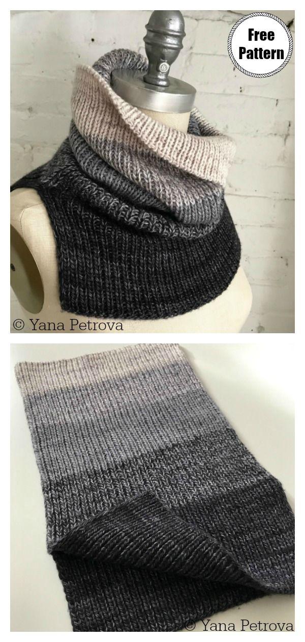 Einfache Cowl Free Knitting Pattern   – Stricken