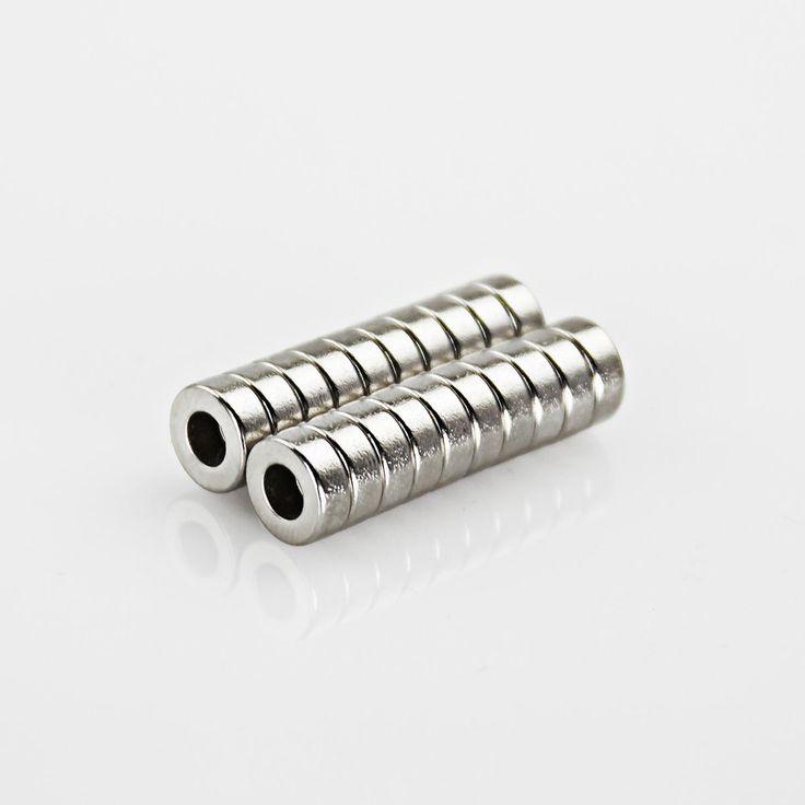 Neodym Magnet Extrem N45 ø 8 x 4 mm gelocht in Magnete  • Scheibenmagnete