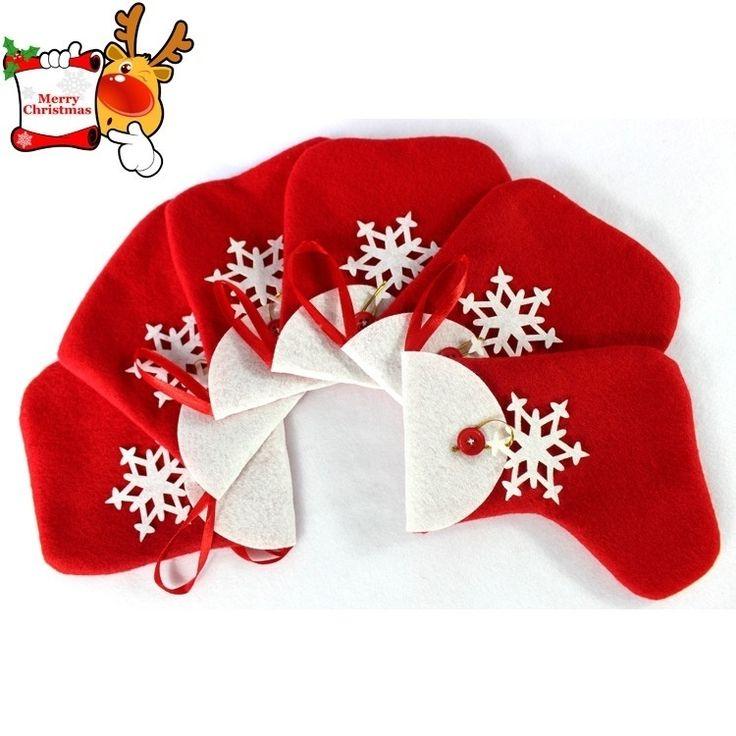 White Snowflake Christmas Candy Socks