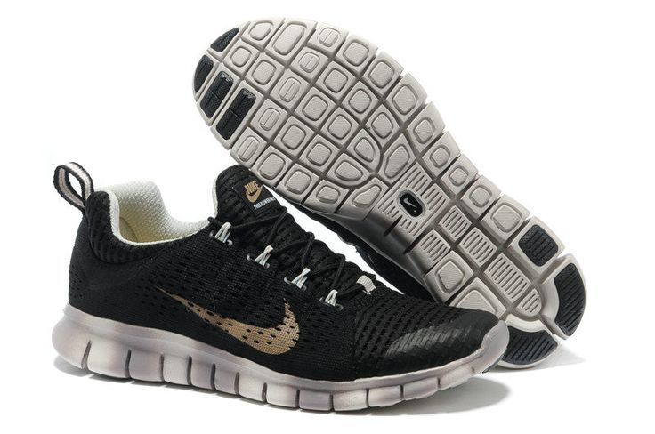 Nike Free Powerline II Mens Black Gradual Change White Gold 555306 030