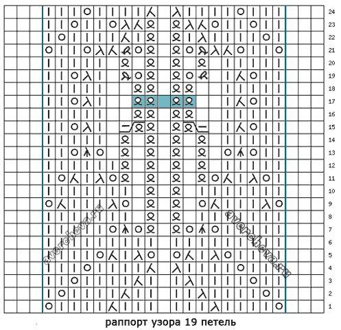 схема узора 458
