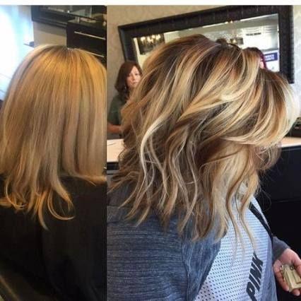 Meilleure couleur de cheveux blonde avec des idées de coupes de cheveux lowlights