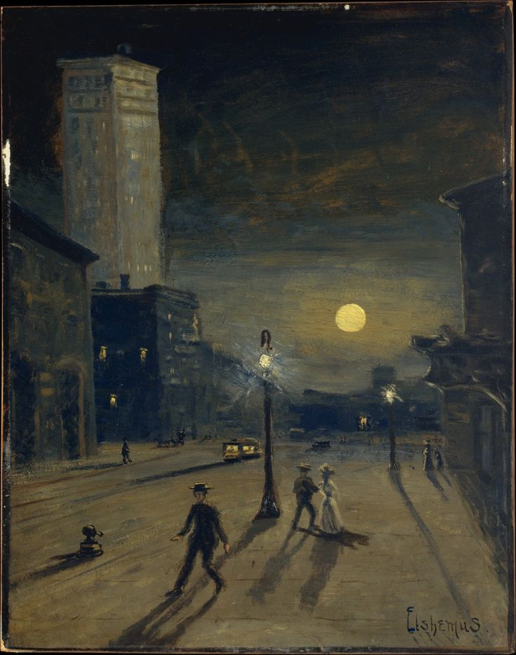 Louis Michel Eilshemius (1864-1941), New York at Night, c. 1910.