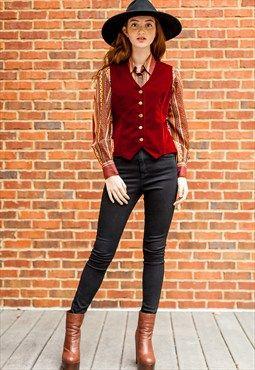 Vintage Velvet Vest